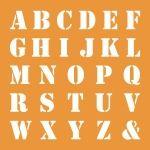 background mask alphabet