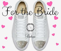 3e4067cdf1e0c BLING Wedding Converse - Bride BLING - Swarovski - Chuck Taylor All Star  Converse - Bling Shoes - All Sizes and Colors - Crystal - Custom by ...