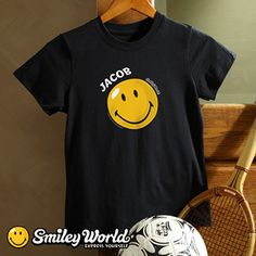 Smiley® Personalized Youth T-Shirt for kids - super cute and you can personalize it with their name! #Smile #Smiley