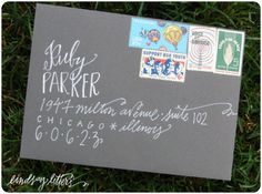 beautiful address lettering | To Live Beautifully