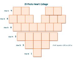 25 Photo Heart Collage I Didn T See Simple Templates After A Quick Search So Created Of Them Hope This Is Helpful To Others As Well M