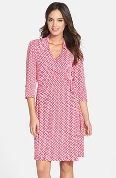 Free shipping and returns on Laundry by Shelli Segal Print Wrap Shirtdress at Nordstrom.com. A demure collar crowns a fluid jersey dress tailored with a wrap-style waist and three-quarter sleeves. A bold graphic print lends mesmerizing effect.