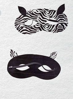 Duct Tape Crafts — Zebra Mask Tutorial