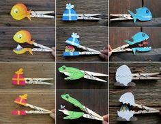 40 DIY Paper Crafts Ideas for Kids- 40 DIY Paper Crafts Ideas for Kids crafts with wooden clothespins - Kids Crafts, Diy Craft Projects, Projects For Kids, Diy For Kids, Arts And Crafts, Craft Ideas, Diy Ideas, 4 Kids, Easy Crafts