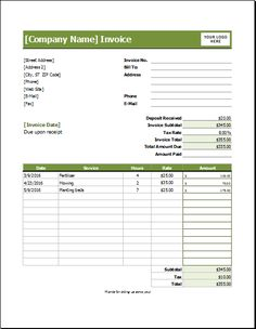 Sample Export Invoice Export Proforma Invoice Excel Invoicegenerator - Lawn care invoice examples