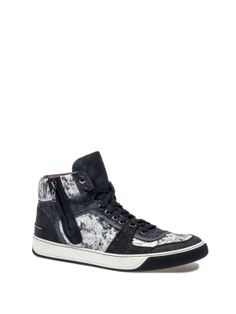 Lanvin - SNAKE SNEAKER - AM5EBMZSTMP7B - Mid-high sneaker in printed snake and leather with zip on the side.