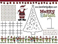 Fun Christmas Activities and Lots of Free Printables - Re-pinned by @PediaStaff – Please Visit http://ht.ly/63sNt for all our pediatric therapy pins