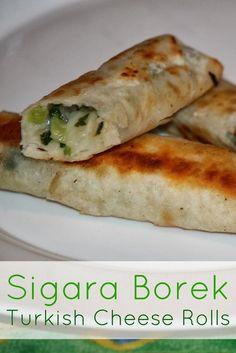 Sigara borek - Turkish cheese rolls Read Recipe by Lebanese Recipes, Turkish Recipes, Greek Recipes, Turkish Cheese, Comida Armenia, Vegetarian Recipes, Cooking Recipes, Good Food, Yummy Food