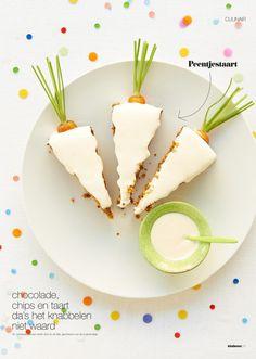 Süße Dekoration für einen Kuchen an Ostern >> carrot cake