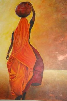 Are but the magial projections of the mind. The hollow vastness of the sky I never say to be afraid . Rajasthani Painting, Art Painting, Indian Art Paintings, Art Corner, Painting, Female Art, Art, Canvas Painting, Portrait Art