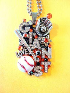 San Francisco Giants Dog Tag Pendant Number 970 by BradosBling, $39.99