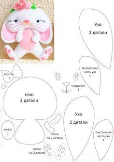 Ambrosial Make a Stuffed Animal Ideas. Fantasting Make a Stuffed Animal Ideas. Felt Doll Patterns, Felt Crafts Patterns, Animal Sewing Patterns, Sewing Stuffed Animals, Stuffed Animal Patterns, Felt Gifts, Sewing Toys, Felt Diy, Felt Dolls