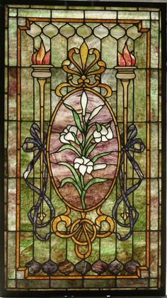 antique tiffany stained glass doors - Google Search