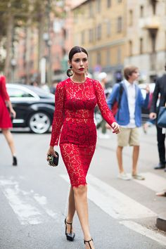 Tell me about your outfit, what you are wearing? - Im wearing a dress from Dolce & Gabbana. Read...
