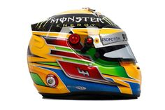 Lewis Hamilton 2013 Helmet - Image rights and ownership are of the Mercedes AMG Petronas F1 Team