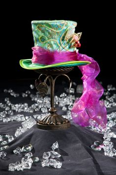 Mad T Party Apparel Featuring Mad Hatter Hat ~ Disney (would love this hat cuz I love Mad Hatter) Mad Hatter Party, Mad Hatter Tea, Mad Hatters, Diy Mad Hatter Hat, Steampunk Top Hat, Steampunk Costume, Steampunk Fashion, Victorian Fashion, Tea Party Hats