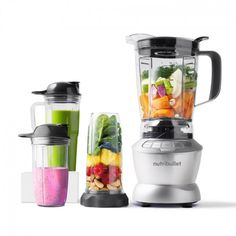 NutriBullet Blender Combo 1200W (Grey, 10-delar, Mixer/Blender)— magicbullet.nu Nutritious Smoothies, Yummy Smoothies, Milk And More, Smoothie Makers, Blenders, Mixer, Juice, Food And Drink, Red Kitchen