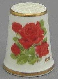 Royal Grafton Thimble - Flowers of the Poets Collection - Rose
