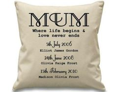 Personalised Gift for Mum Gift from Children Mum's First