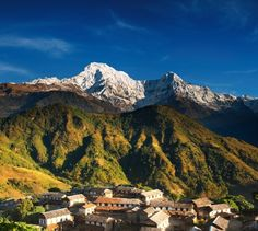 Photo about Himalayan village and Annapurna South , Nepal. Image of massif, farm, lofty - 4892645 Great Places, Places To See, Beautiful Places, Trek The Himalayas, Nepal Culture, Nepal Trekking, Travel Center, Back To Nature, Future Travel