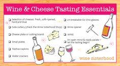 Wine and Cheese Tasting Essentials Checklist | Wine Sisterhood Blog
