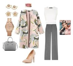 """Pretty pink and gray"" by flymommy on Polyvore featuring STELLA McCARTNEY, BCBGMAXAZRIA, Dorothy Perkins, T+C by Theodora & Callum, Givenchy, Marc by Marc Jacobs, women's clothing, women, female and woman"