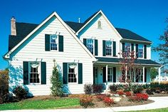 """I do think these colors will look good on our house. A white house with green shutters is classic, and """"vinyl is final"""" Best Windows, Windows And Doors, Sell Your Own Home, Green Shutters, Energy Efficient Windows, Energy Efficiency, House Paint Exterior, Exterior Design, Home Insurance"""