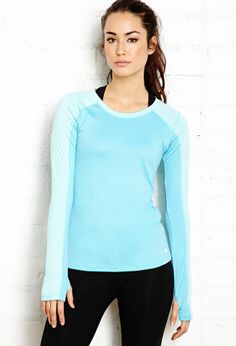 Forever 21 Long Sleeve Workout Top on shopstyle.com #gym #fitness #yoga #fashion #fitgirltravels
