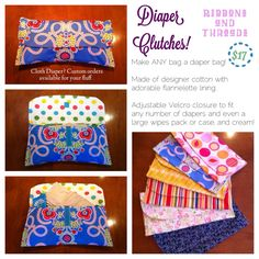 Diaper Clutch from Ribbons and Threads www.facebook.com/RibbonsandThreads