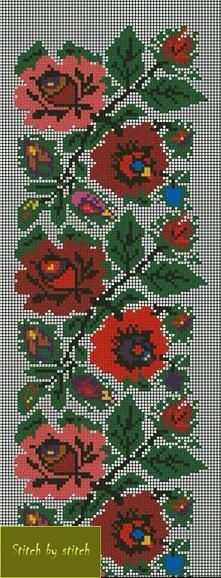 Українські традиційні орнаменти Russian Embroidery, Folk Embroidery, Cross Stitch Embroidery, Embroidery Patterns, Crochet Patterns, Cross Stitch Boarders, Cross Stitch Patterns, Cross Stitch Needles, Bead Loom Bracelets