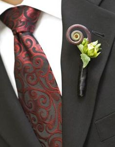 modern  boutonniere | My Dream Life: Boutonnieres:: Traditional or Modern?