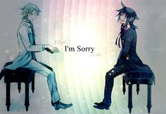 Pandora Hearts wallpaper - Elliot Nightray and Leo Baskerville