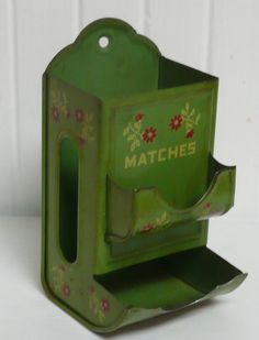 1930s Tin Match Box Holder