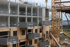 Die industrielle Vorfertigung ermöglichte eine kurze Bauzeit bei hoher Material- und Oberflächenqualität