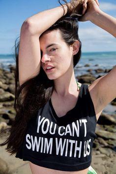 Apuletown - You Can't Swim With Us Mermaid Crop Top