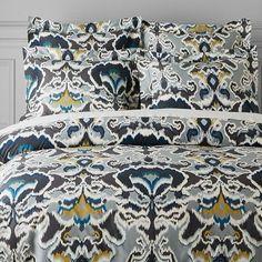 Jahari Ikat Printed Organic Bedding #williamssonoma