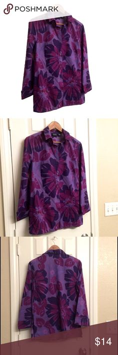 Pretty floral tunic This is a beautiful lilac cotton tunic in lightweight cotton, worn once, in good condition, like new, no sign of wear, SIZE SMALL, 28 inches long, 16/38 inches across bust, price firm unless bundled 💕 Hillard & Hanson Tops Tunics
