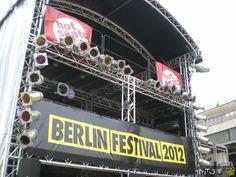 Berlin Festival 2012: the Alfa Romeo hot seats. Der beste Blick auf die Bühne!!