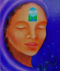 Peaceful Silence by Qahira Lynn Spiritual Connection, Sacred Feminine, World Peace, Visionary Art, Best Vibrators, Archetypes, Hello Everyone, Black Art, Art Forms