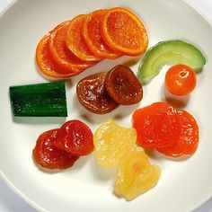 Candied fruit.