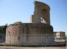 remains of the Mausoleum of Helena  - Rome - built by the Roman emperor Constantine I between 326 and 330, originally as a tomb for himself, but later assigned to his mother, Helena, who died in 328.