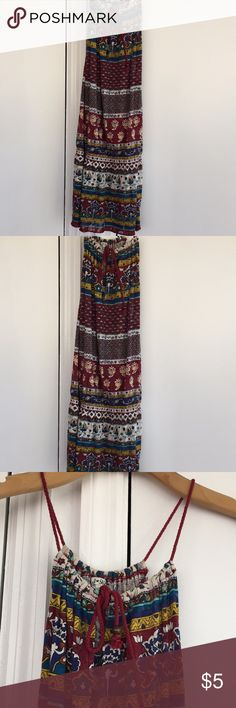 Boho tunic Boho pattern design, adjustable tie, cinches at the waist, in good condition Forever 21 Tops Tunics