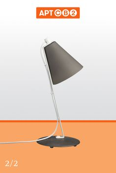 The added texture of this lamp brings a visual dimension to any desk. Like your favorite desk lamp out of these two to see it in #APTCB2 at www.cb2.com/APTCB2 #workswithCB2