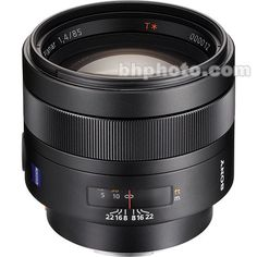 Sony 85mm f/1.4 Carl Zeiss Planar T* Prime Lens (B&H # SO8514  •MFR # SAL85F14Z) Product Highlights  -Aperture Range: f/1.4-22 -For Sony Alpha & Minolta DSLRs -Carl Zeiss T* (T-Star) Coating -Minimum Focus Distance: 2.8' -9x Circular Aperture Blades -Focus Mode Switch -Focus Hold Button -0.13x Magnification You Pay:  $1,698.00 (45 Five Star Reviews)
