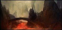Lava landscape by JonathanDeVos.deviantart.com on @deviantART