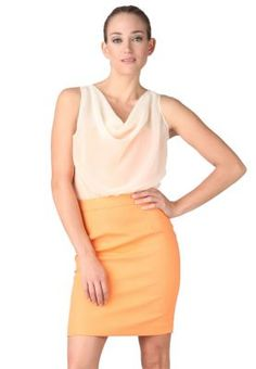 Wyle Peek a Lady Dress Orange - WYLE SHOP