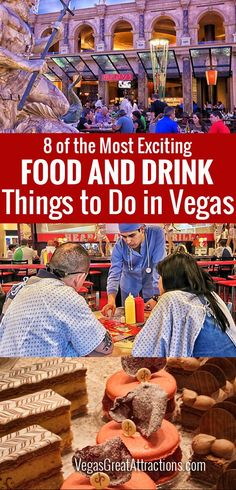 8 of the most Exciting Food and Drink Things to Do in Vegas - Suggestions of unique culinary experiences, plus a bonus for tourists Las Vegas Tips, Las Vegas Food, Las Vegas Vacation, Visit Las Vegas, Las Vegas Nevada, Travel Vegas, Vegas Fun, Best Food In Vegas, Vacation Ideas