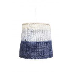 Crochet is trendy! This lampshade too! Entirely handmade, the knit brings warmth and softness while the beautiful blue and white come awake the whole. cotton - 25 % acrylic - 11 % polyester - Dimensions: cm x H cm - Protective film inside Lampe Crochet, Dark Blue, Blue And White, Lamp Light, Indigo, Lights, Knitting, Cotton, Handmade