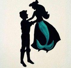 the little mermaid silhouette