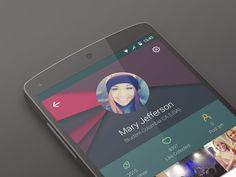 Erodr App New Profile design concept V3 by MLSDev Inc.